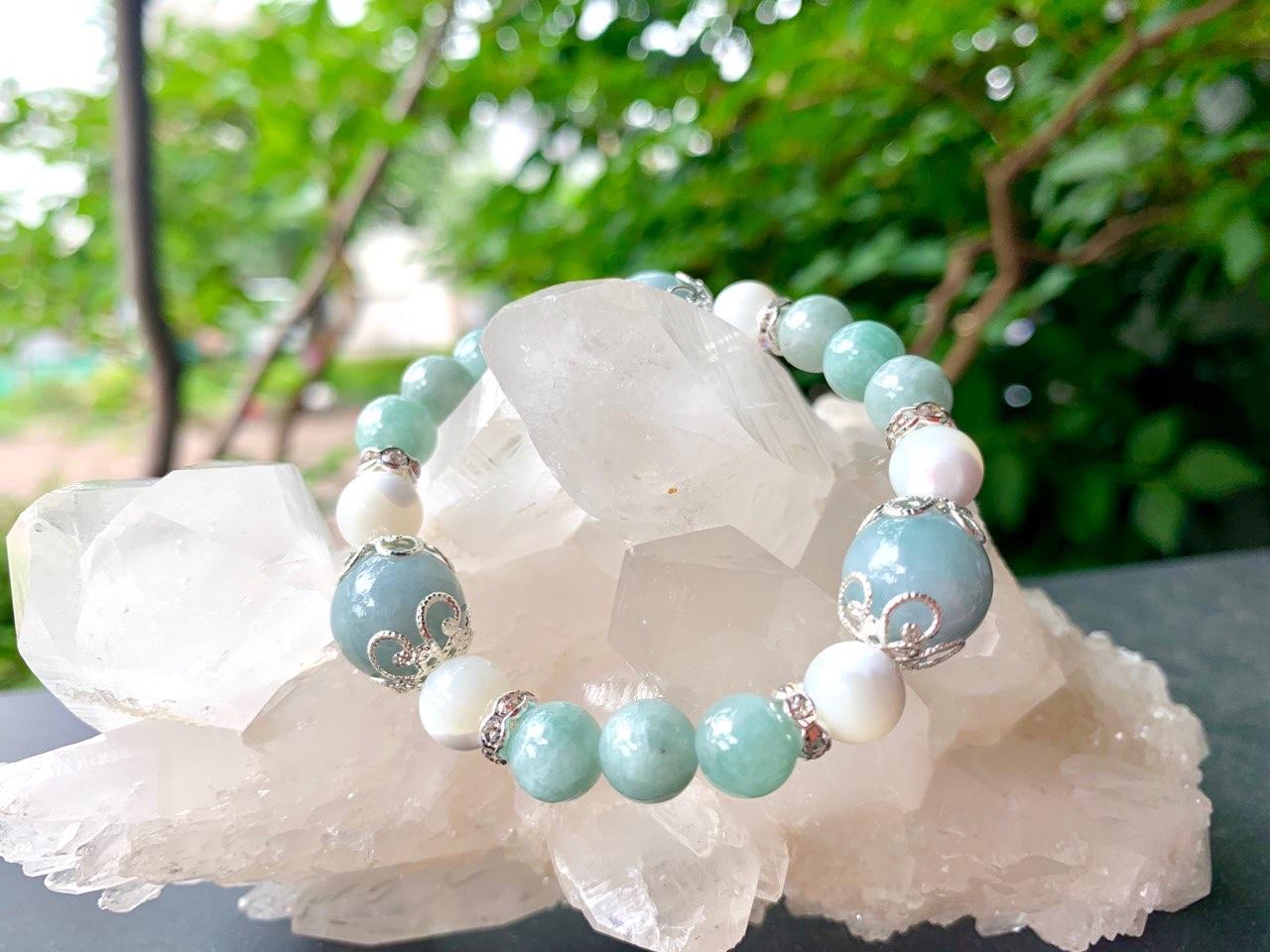 【受注販売】ブルーグリーン翡翠ブレスレット~Oriental beauty~